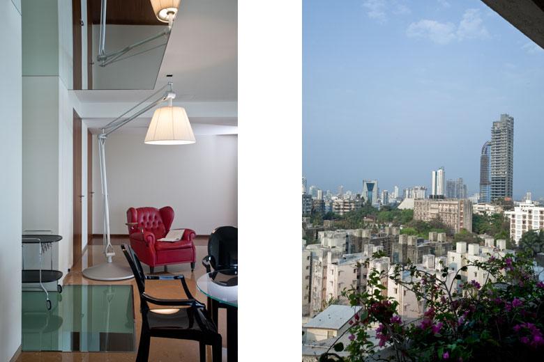 Flat in Warli, Mumbai, India, loft and view