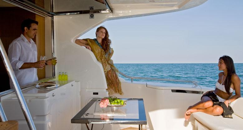 Yacht Ferretti 501 - pozzetto -