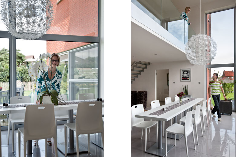 Villa monofamiliare a Balen in Belgio, dining and loft, young owners
