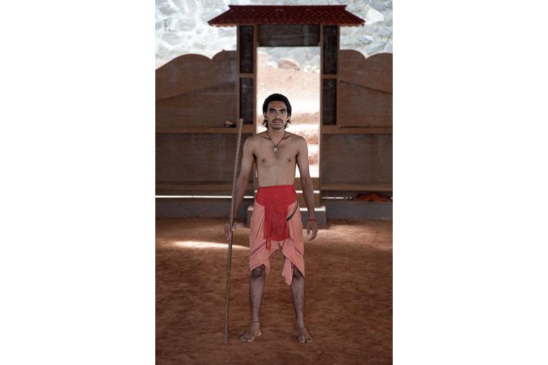 Ambrish, istruttore di kalaripayattu al Dhanurveda di Kovalam