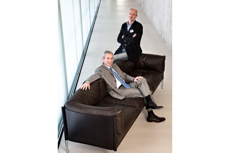 Massimo Grassi e Piero Lissoni, per la copertina di DDN