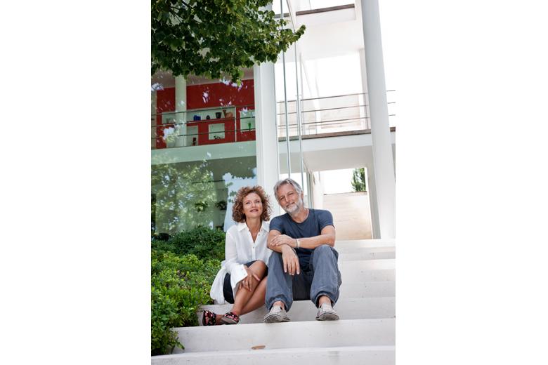 Architetti Palmini nella loro casa di Macerata